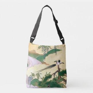 La bolsa de asas asiática del pájaro de la cascada