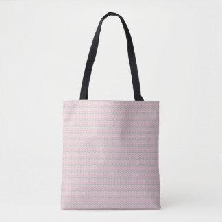 la bolsa de asas azteca rosada de la impresión