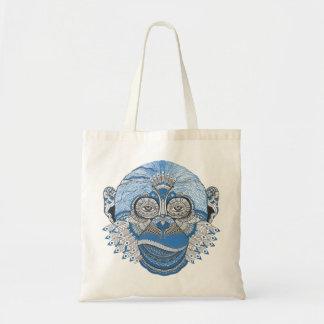 La bolsa de asas azul bohemia del mono