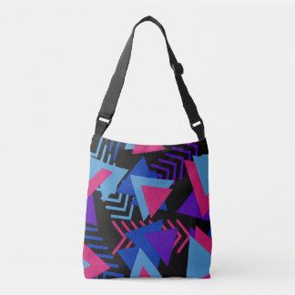 La bolsa de asas azul púrpura fucsia del diseño