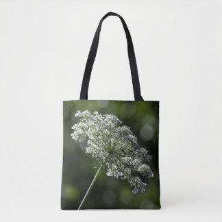 La bolsa de asas blanca del Wildflower del cordón