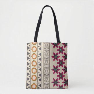 La bolsa de asas bohemia floral tribal femenina de