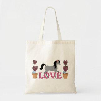 La bolsa de asas bonita del caballo del amor de lo