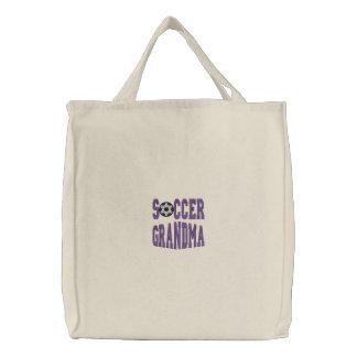 La bolsa de asas bordada abuela del fútbol
