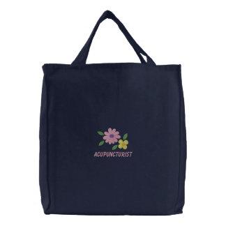 La bolsa de asas bordada del Acupuncturist