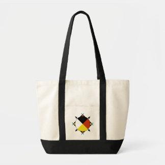 La bolsa de asas cherokee de cuatro direcciones