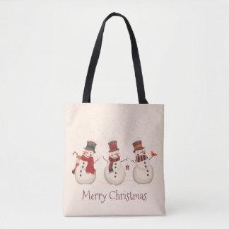 La bolsa de asas clásica del navidad de los