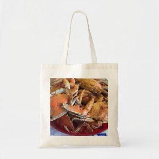 Bolso De Tela La bolsa de asas cocida al vapor de los cangrejos