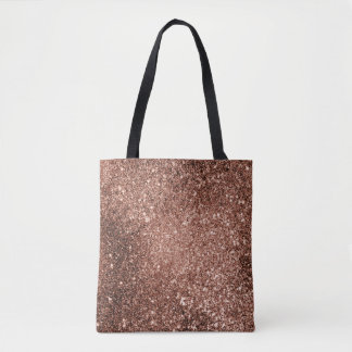 La bolsa de asas color de rosa del brillo del oro