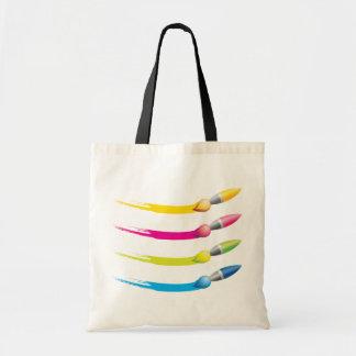 La bolsa de asas colorida de los cepillos