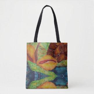 La bolsa de asas colorida del batik del océano