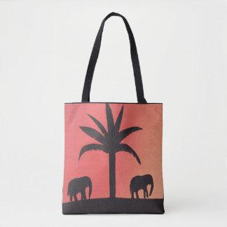 La bolsa de asas con diseño del elefante