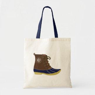 La bolsa de asas con monograma de la bota del pato
