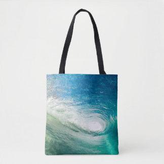 La bolsa de asas con playas del diseñador de la