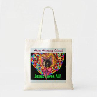 La bolsa de asas curativa del gato del amor de