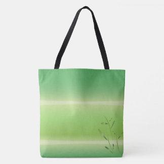 la bolsa de asas de bambú del verde de la