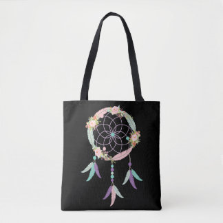 La bolsa de asas de Boho en negro con imagen ideal