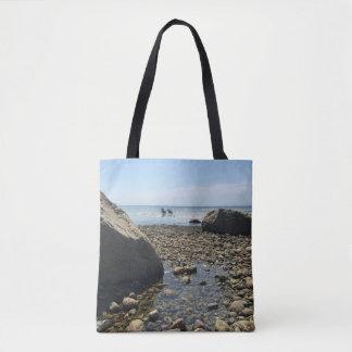 La bolsa de asas de Cape Cod - playa de Woodneck