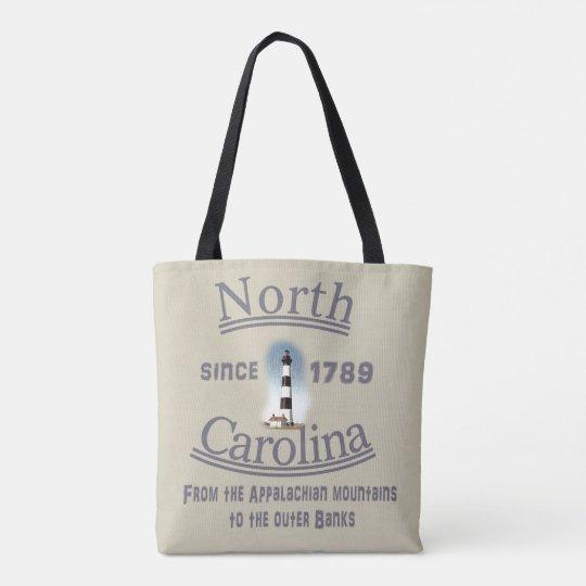 La bolsa de asas de Carolina del Norte - tote con
