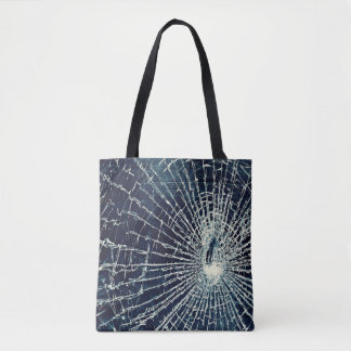 la bolsa de asas de cristal agrietada