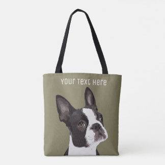 La bolsa de asas de encargo de Boston Terrier