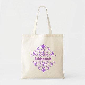 La bolsa de asas de encargo del boda de la dama de