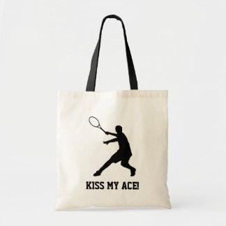 La bolsa de asas de encargo del jugador de tenis