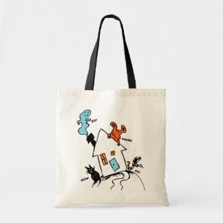 La bolsa de asas de la casa del feliz Halloween