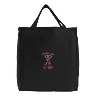 La bolsa de asas de la celebración del cáncer de p