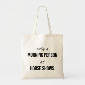 La bolsa de asas de la demostración del caballo