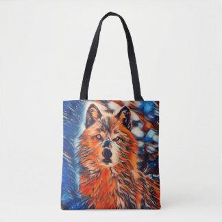 La bolsa de asas de la fauna del lobo rojo