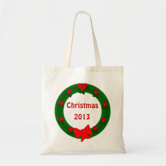 La bolsa de asas de la guirnalda del navidad