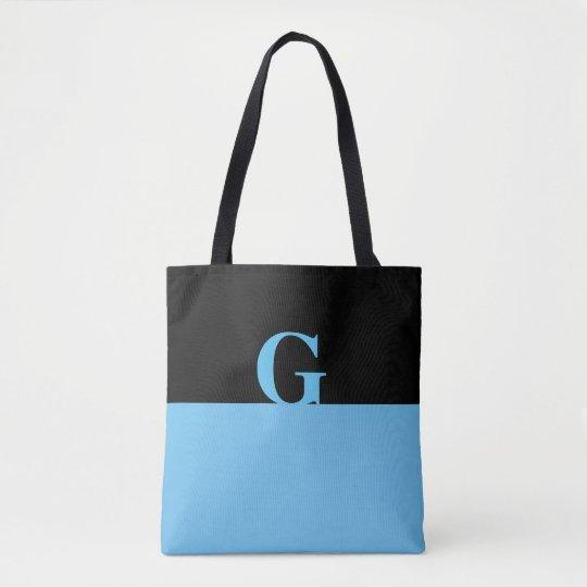 La bolsa de asas de la impresión del monograma