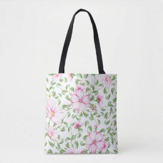 La bolsa de asas de la impresión floral de Boho