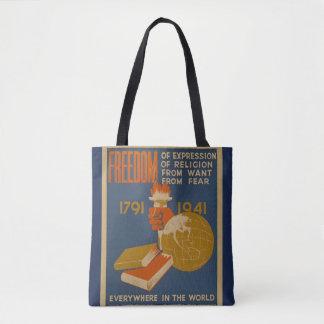 """La bolsa de asas de la """"libertad"""" del vintage"""