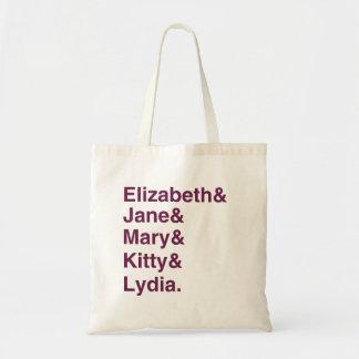 La bolsa de asas de la tipografía de Jane Austen