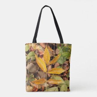 La bolsa de asas de las hojas de otoño