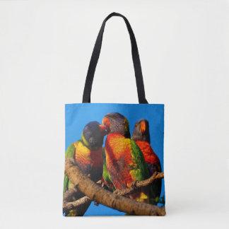 La bolsa de asas de Lorikeet del arco iris
