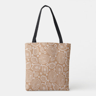 La bolsa de asas de madera de la textura de la