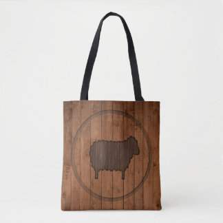 La bolsa de asas de madera de las ovejas