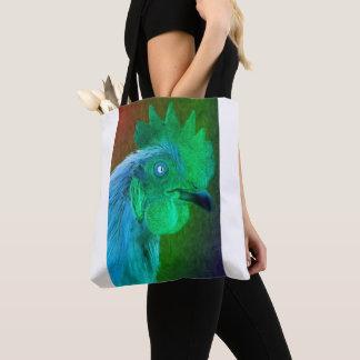 La bolsa de asas de neón del gallo
