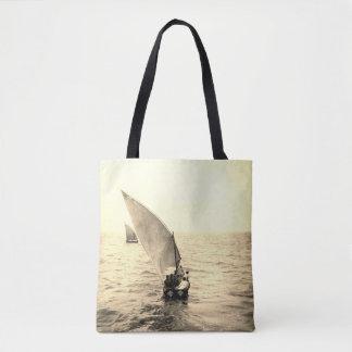 La bolsa de asas del adorno del océano de la foto