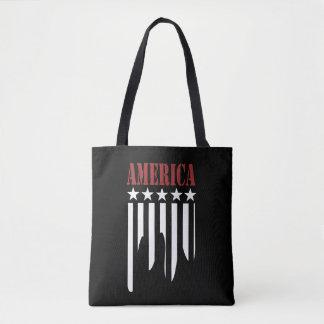 La bolsa de asas del americano de las barras y