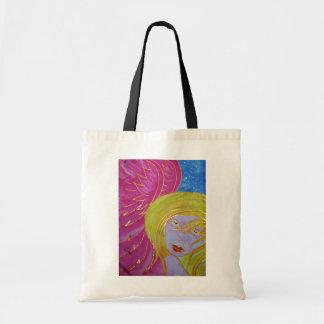 La bolsa de asas del ángel: Imagen pintada seda