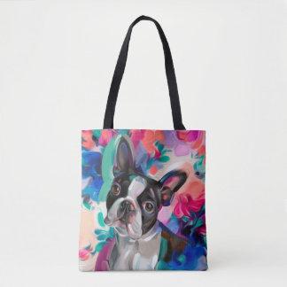 La bolsa de asas del arte del perro del terrier de