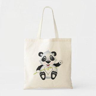 La bolsa de asas del carácter de la panda del