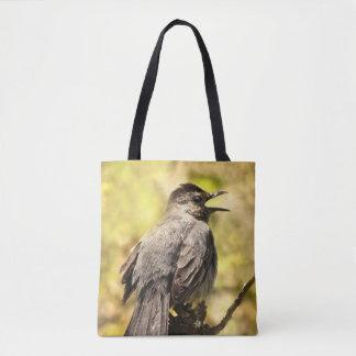 La bolsa de asas del Catbird gris del canto