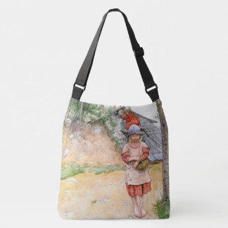 La bolsa de asas del chica de la familia del