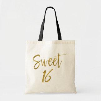 La bolsa de asas del cumpleaños de la hoja de oro
