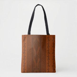 La bolsa de asas del diseño del chocolate